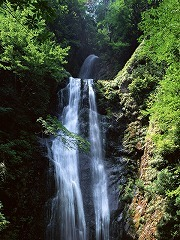 滝の水に浄化パワーが